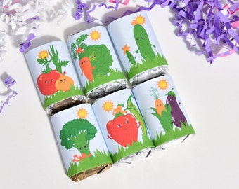 54 Cute Vegetable Stickers, Vegetable Party Favor, Vegetable Birthday Party Favors, Vegetable Party Supplies, Vegetable Baby Shower