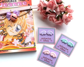 wings wing earrings sailor moon princess pastel goth gothic lolita alternative kawaii sweet cute harajuku
