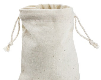 """96 4""""x6"""" Muslin Bags with Drawstring"""