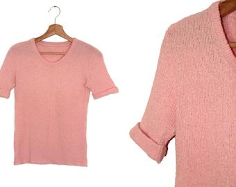 Pretty vintage pink knit