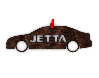 Wooden VW Jetta Ornament