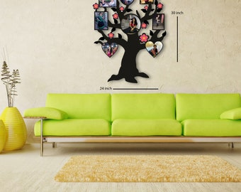 personalized wood family tree collage