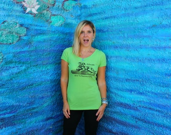 SALE - Gift for Her - Pit/ Staffie/ Bully shirt Apple Green - Plus Sizes Available - Supports Animal Rescue