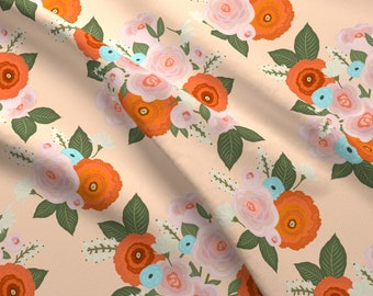 Roses Fabric - Harriett Iveta Abolina By Onesweetorange - Roses Floral Flowers Botanical Garden Cotton Fabric By The Yard With Spoonflower