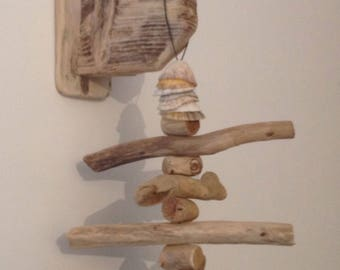 Driftwood mobile, Art, Crafts , Wall hanging
