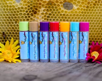 2 Natural Lip Balm- Organic Lip Balm- Lip Moisturizer- All Natural Lip Balm- Handmade Lip Balm- Lip Salve- Natural Chapstick- Beeswax Balm