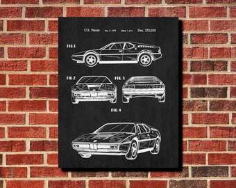 Car Patent Print Classic Car Blueprint Sports Car Poster Car Print Mechanic Gift Man Cave Poster