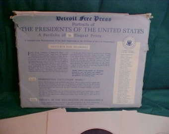 Detroit Free Press Portraits of  Presidents Of The United States  36 Prints for Framing