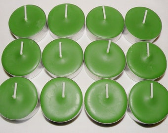 Green Tea & Lemongrass Scented Soy Tealight Candles - Pick A Pack