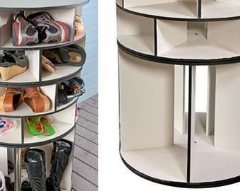 58 Pair Shoe Storage Shoe Organizer Lazy Susan Organizer Closet Organizer  Spinning Shoe Rack Shoe Holder