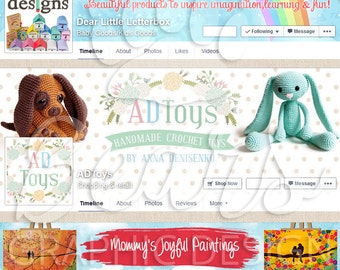 Custom Facebook Cover Set, Facebook Banner, Facebook Timeline Cover and Profile Picture, Social Media Header, Social Media Banner