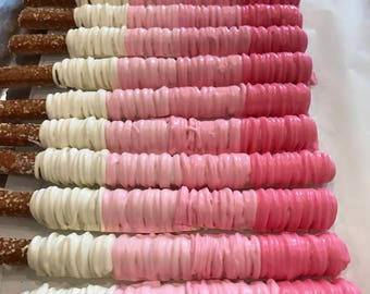 Pink Ombre | Shades of Pink | Chocolate Covered Pretzel Rods