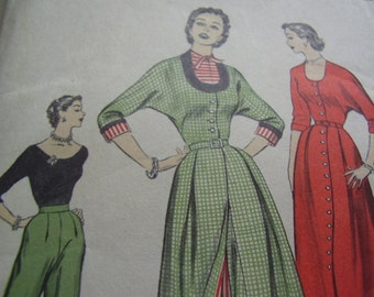 Vintage 1950's Advance 6283 Norma Dare of Flobert Designer Series Sewing Pattern, Size 16, Bust 34