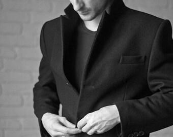 Men's coat, wool coat men, winter coat men, men's overcoat, wool overcoat, wool coat, winter black coat, custom coat, custom wool coat.