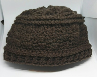 Toddler boys hat - chocolate hat - brown hat - boys winter hat