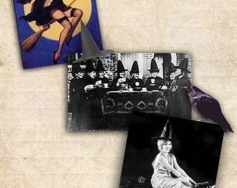 Halloween Potpourri Images Digital Collage Sheet Instant Download Printable Halloween Scrapbooking Altered Art Cardmaking