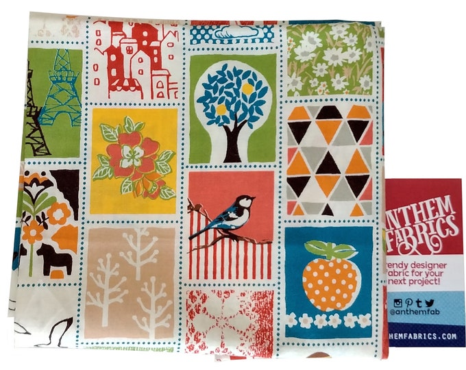 Fabric Patch Stamp QG1906-11D -Mushroom Tic Tac by Quilt Gate - select length