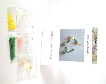 Bead Kit tutorial for peyote and herringbone daisy chain bracelet