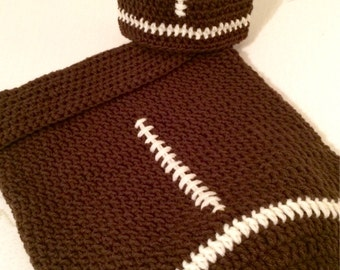 Baby Crochet Football Cocoon hat set Footbal Baby Theme set