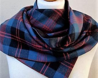 Sam Heughan's kilt tartan.  Angus Ancient tartan scarf.  Angus tartan accessory. Scottish clan tartan scarf. Made in the UK.
