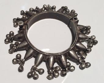 Antique Bangles cuff-kochi bracelet-solid Silver Cuff- Woman Cuff Bracelet Jewellery-Tribel Jewellery-old silver-Handmade