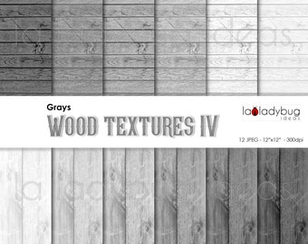 Gray wood texture digital paper (WT004). Shades of gray wood wallpaper. Instant download background. High resolution.