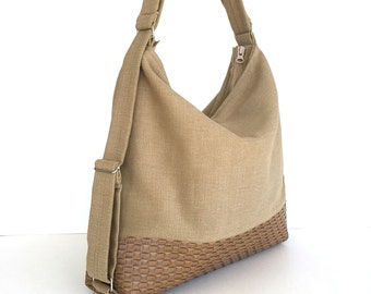 Convertible hobo purse,convertible backpack,travel backpack,Khaki backpack, office purse,backpack purse, convertible shoulder bag,sisoibags