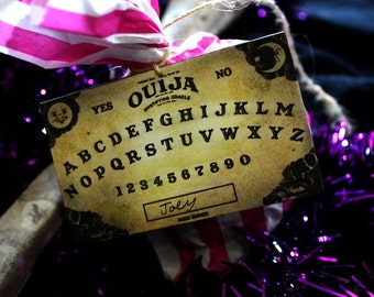 Handmade Halloween Ouija Board Tags/Place Cards - Set of 8
