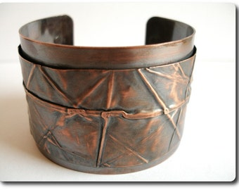 Copper Foldform Cuff Bracelet