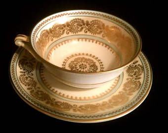 Set of Two French Limoges Tea Cup and Saucers                     VG2127