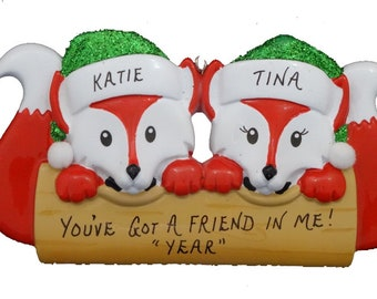 Best Friends Personalized Christmas Ornament - Friendship Personalized Ornament - Custom Personalized For A Perfect Gift