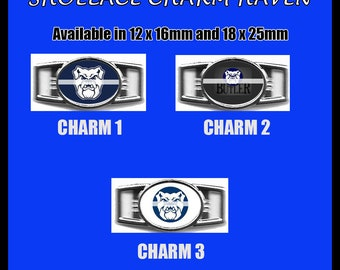 BUTLER BEARS Shoelace Charm  Paracord Bracelet Charm Oval Charm 12 x 16mm or 18 x 25mm Charms