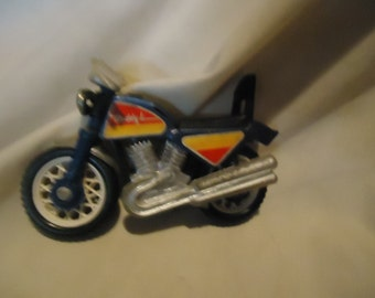 Vintage Buddy L Plastic Blue Toy Motorcycle, collectable