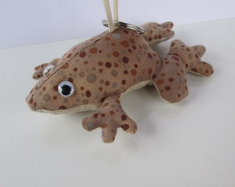 Fabric Toad keychain, ornament, accessory