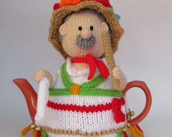 Morris Dancer Tea Cosy Knitting Pattern