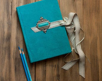 Turquoise diary  Suede diary  Leather journal Travel journal  Leather notebook  Handmade  leather journal Travel book