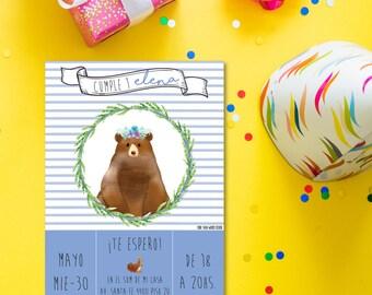 printable invitations for boys ' birthday forest model