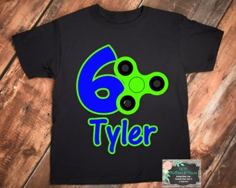 Fidget Spinner Birthday Shirt - Fidget Birthday Shirt -Fidget Spinner-Birthday Shirt-Fidget Spinner Birthday Party