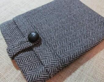 Kindle Paperwhite / Kindle Voyage / Wool Herringbone Fabric Sleeve