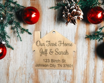 Our First Home Ornament, Personalized Christmas Ornament, Wooden Ornament, Married Ornament, First Home Together, Our First Christmas