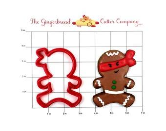 Jumping Ninja Gingerbread Man Cookie Cutter