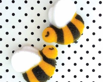Bumble Bee Edible Sugars (24), Bumble Bee Cupcake Toppers, Bumble Bee Baby Shower, Bumble Bee Cake Topper, First Birthday Party, Honey Bee