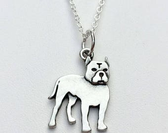 Pit Bull Charm Necklace