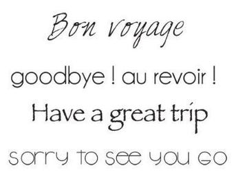 Kaisercraft Mini Clear Acrylic Stamp - Bon Voyage