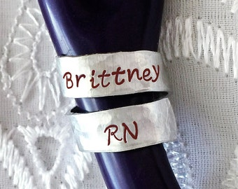 Stethoscope ID Tag, Stethoscope Name Tag, Nurse Gift, Doctor Gift, Personalized Stethoscope Tag, Metal Stethoscope ID Tag