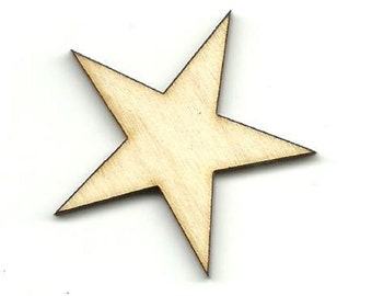 Star - Laser Cut Out Unfinished Wood Shape Craft Supply BSC18