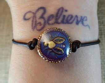 Honeybee Leather Mood Bracelet, Mood Jewelry, Friendship Bracelets, Meaningful Bracelets, Hippie Jewelry, Nature Jewelry
