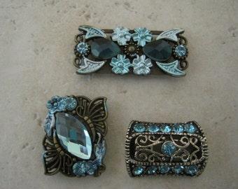 Beautiful Blue Bead Gallery 2-Hole slider beads 1X