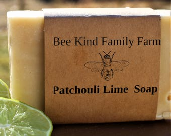 Patchouli Lime Handcrafted cold Process Soap