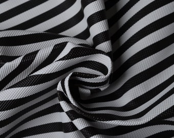 Half Yard Black and White Stripe Faux Leather Fabric,Black and White Across Stripe PVC Leather For Bags Making,Wallet&Purse Vinyl Leather